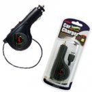 Rubberized Retractable Plug in Car Charger for Samsung Saga i770