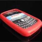 PREMIUM High-Quality Soft Silicone Skin Cover for BlackBerry Curve (JAVELIN) 8900 - Solar Red