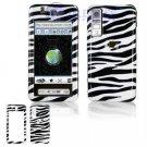 Hard Plastic Design Cover Case for Samsung Behold T919 - Black / White Zebra Stripes