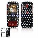 Hard Plastic Design Cover Case for Samsung Rant M540 - Polka Dots