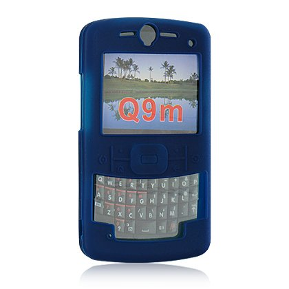 Soft Rubber Silicone Skin Cover Case for Motorola Q9m Cell Phone - Blue