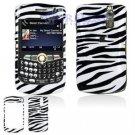 Hard Plastic Design Cover Case for BlackBerry Curve 8350i (Sprint/Nextel) - Black / White Zebra