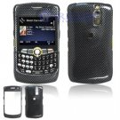 Hard Plastic Design Cover Case for BlackBerry Curve 8350i (Sprint/Nextel) - Carbon Fiber