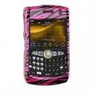 Hard Plastic Design Cover Case for BlackBerry Curve 8350i (Sprint/Nextel) - Pink / Black Zebra