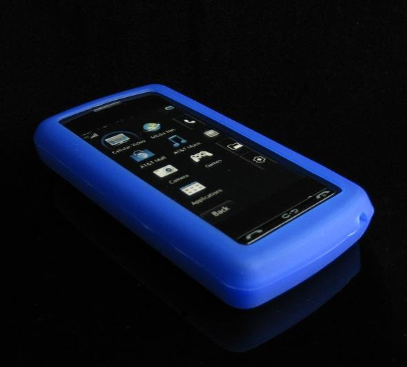 Silicone Skin Cover Case for LG VU CU920 - Blue