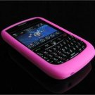 Soft Rubber Silicone Skin Cover Case for BlackBerry Curve (JAVELIN) 8900 - Hot Pink