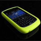 Soft Rubber Silicone Skin Cover Case for BlackBerry Curve (JAVELIN) 8900 - Lemon Yellow