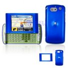Hard Plastic Shield Cover Case for AT&T QuickFire - Blue