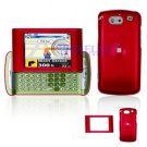Hard Plastic Shield Cover Case for AT&T QuickFire - Red