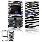 Hard Plastic Design Cover Case for Samsung Epix i907 - Black White Zebra