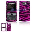 Hard Plastic Design Cover Case for Samsung Epix i907 - Hot Pink Black Zebra