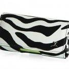 Black Zebra Stripes Horizontal Belt Clip Case Pouch for LG Versa (Verizon Wireless)