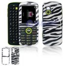 Hard Plastic Design Cover Case for Samsung Gravity T459 - Black / White Zebra