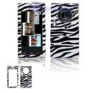 Hard Plastic Design Cover Case for Samsung Memoir T929 - Black / White Zebra