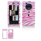 Hard Plastic Design Cover Case for Samsung Memoir T929 - Pink / White Zebra