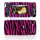 Hard Plastic Design Shield Protector Cover Case for Sidekick 2008 - Hot Pink / Black