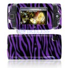 Hard Plastic Design Shield Protector Cover Case for Sidekick 2008 - Purple / Black Zebra