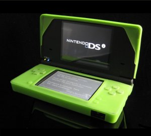 LIME GREEN Silicone Soft Skin Cover for Nintendo DSi (DS i) Handheld System