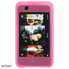 Silicone Skin Sleeve Cover Case for Apple iTouch - Pink