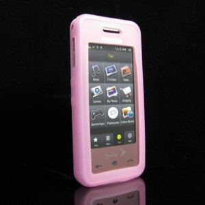 Slim Jelly Soft Silicone Skin for Samsung Instinct M800 - Pink