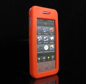 Slim Jelly Soft Silicone Skin for Samsung Instinct M800 - Red