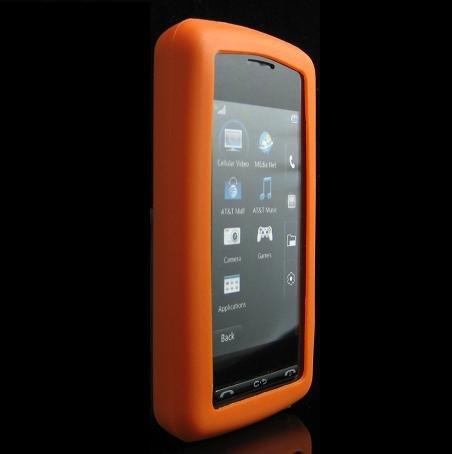 Silicone Skin Cover Case for LG VU CU915 / CU920 - ORANGE