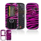 Hard Plastic Design Cover Case for LG Rumor 2 LX265 - Hot Pink / Black Zebra