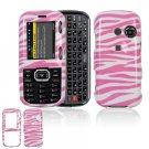 Hard Plastic Design Cover Case for LG Rumor 2 LX265 - Pink / White Zebra