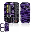 Hard Plastic Design Cover Case for LG Rumor 2 LX265 - Purple / Black Zebra