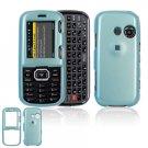 Hard Plastic Shield Cover Case for LG Rumor 2 LX265 - Light Blue