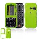 Hard Plastic Shield Cover Case for LG Rumor 2 LX265 - Neon Green