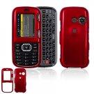 Hard Plastic Shield Cover Case for LG Rumor 2 LX265 - Red