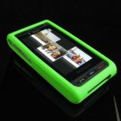 Premium Soft Gel Rubber Cover for Samsung Memoir T929 - Lime Green