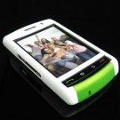 PREMIUM Hard Plastic Shield Cover Case for BlackBerry Storm 9500/9530 - Green / White