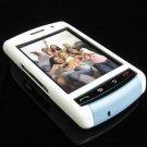 PREMIUM Hard Plastic Shield Cover Case for BlackBerry Storm 9500/9530 - White / Baby Blue