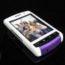 PREMIUM Hard Plastic Shield Cover Case for BlackBerry Storm 9500/9530 - White / Purple