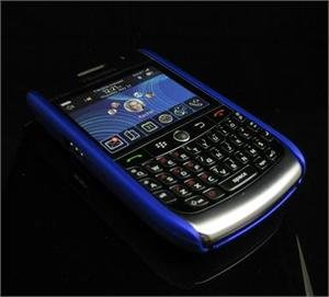 Back Cover Rubber Coating Hard Faceplate for BlackBerry Curve 8900 - Blue
