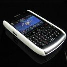Back Cover Rubber Coating Hard Faceplate for BlackBerry Curve 8900 - White