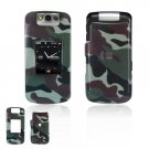 Hard Plastic Design Cover Case for BlackBerry Pearl Flip 8220 - Camouflage