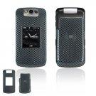 Hard Plastic Design Cover Case for BlackBerry Pearl Flip 8220 - Carbon Fiber