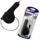 Rubberized Retractable Plug in Car Charger for Nokia 5800 XpressMusic