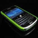 Back Cover Rubber Coating Hard Faceplate for BlackBerry Bold 9000 - Green