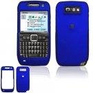 Hard Plastic Rubber Feel Cover Case for Nokia E71 - Blue