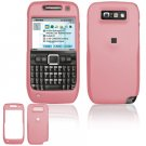 Hard Plastic Rubber Feel Cover Case for Nokia E71 - Pink