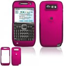 Hard Plastic Rubber Feel Cover Case for Nokia E71 - Rose Pink