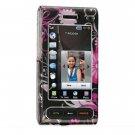 Hard Plastic Design Cover Case for Samsung Memoir T929 - Pink Butterfly
