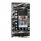 Hard Plastic Design Cover Case for Samsung Memoir T929 - Silver / Black Zebra