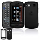 Hard Plastic Rubber Feel Cover Case for LG Xenon GR500 (AT&T) - Black