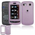 Hard Plastic Rubber Feel Cover Case for LG Xenon GR500 (AT&T) - Light Purple