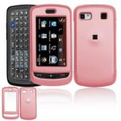 Hard Plastic Rubber Feel Cover Case for LG Xenon GR500 (AT&T) - Pink